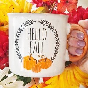 Cynthia Rowley Hello Fall pumpkin coffee mug